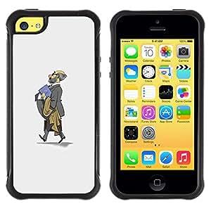 Suave TPU GEL Carcasa Funda Silicona Blando Estuche Caso de protección (para) Apple Iphone 5C / CECELL Phone case / / Professor Grey Suit Bald Kids School /