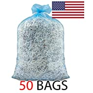 46 Gallon Ox Plastics Recycling Bags, Recycle Bags, Trash Garbage Blue Eco Friendly (50)