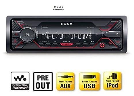 Sony DSX-A410BT MP3 Autoradio mit Bluetooth, NFC, USB, AUX Anschluss und  iPod/iPhone Control rote beleuchtung: Amazon.de: Navigation
