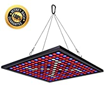 HIGROW Reflector 45W LED Grow Light Panel 225 LEDs 6-Band Full Spectrum Include UV IR with Switch for Indoor Plants Seeding& Growing& Flowering