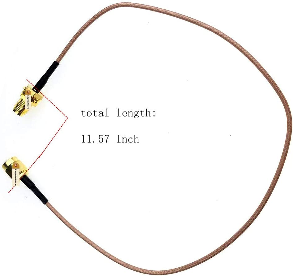 Length 11.8 Inch Lsgoodcare Connecting Line RG178 Coaxial Cable Connector Antenna Adapter Pack of 3 SMA-Male to SMA-Female Antenna Extension Cable