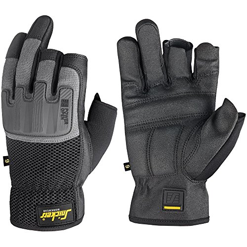 Snickers 95860448010 Power Open Gloves, 10, Black/Grey by Snickers (Image #1)