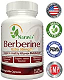 Naravis Berberine HCl Complex Supplement – 600mg per Capsule – Supports Healthy Blood Sugar & Insulin Metabolism – Helps Cardiovascular Gastrointestinal & Immune Systems – Vegan Review