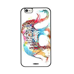 Hot diy case (TM) cell phone case for Iphone 6 plus 5.5 High Impackt Combo Soft Silicon Rubber Hybrid Hard Pc & Metal Aluminum Protective Case with Colorful ink elephant Luxurious Pattern(Black) by heywan