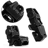 ULKEME 2Pcs Tactical Folding Front & Rear Set Flip Up Backup Sights BUS Black 26