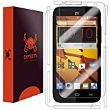 ZTE Speed Screen Protector + Full Body (Boost Mobile), Skinomi TechSkin Full Coverage Skin + Screen Protector for ZTE Speed Front & Back Clear HD Film
