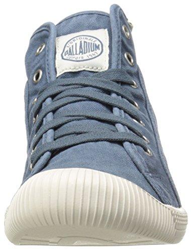 Palladium FLEX LACE MID - zapatillas deportivas altas de lona mujer azul - Blau (BLUE/MRSHMLLW 443)