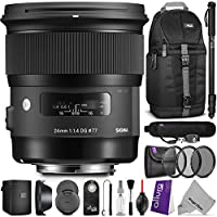 Sigma 24mm F1.4 ART DG HSM Lens for NIKON DSLR Cameras w/ Essential Accessory Bundle Key Pieces Review Image