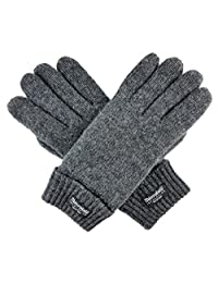 Bruceriver Ladie's Wool Knit Gloves with Thinsulate Lining Size M (Grey)