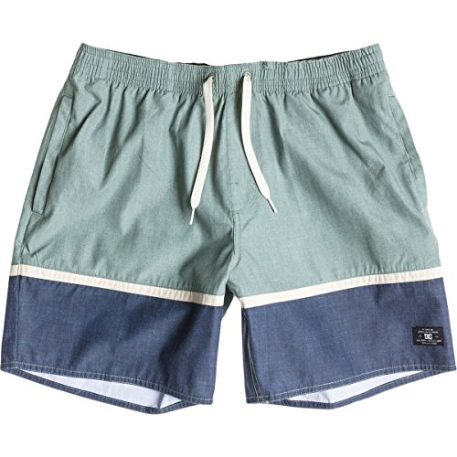 DC Mens Turtle Bay Boardshort Large Lily Pad