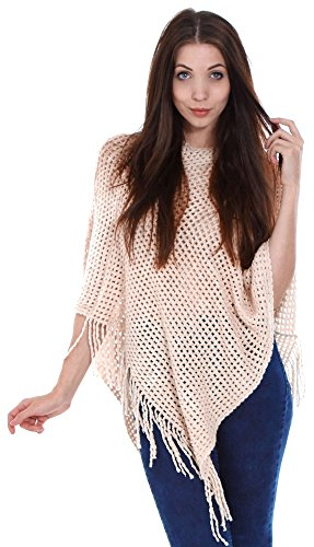 Simplicity New Women Knitted Tassel Poncho Cape Sweater Top Shawl Wrap by Simplicity