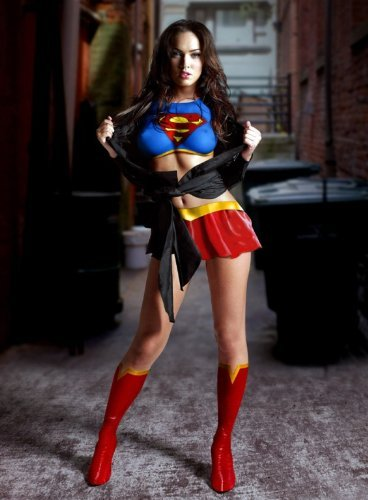 - (11x17) Megan Fox Superfox (Supergirl/Superman) Movie Poster Print