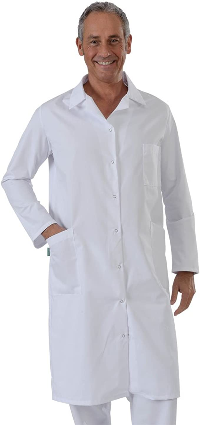 Label Blouse - Bata médica de algodón: Amazon.es: Ropa y accesorios