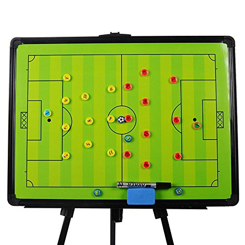 Odowalker Soccer Football Tactic Coaching Board Strategy Game Plan Whiteboard Dry Erase Marker Board Training Equipment - Large Size with Tripod Stand and Carrying Tote by Odowalker (Image #1)'