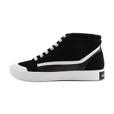 Calvin Klein - Zapatillas de Cuero para Hombre Negro Negro Negro Size: 45 EU: Amazon.es: Zapatos y complementos
