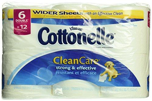 Cottonelle Clean Care Toilet Paper, Double Roll, 6 Count