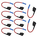 Etopars™ 10 X 12V 24V Standard Add A Circuit Fuse Tap Piggy Back Blade Holder Plug Socket Car Vehicle