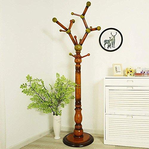 (CWJ European Hangers Floor Clothes Shelves Simple Modern Bedroom Solid Wood Coat Racks (3 Colors Available),#1 )
