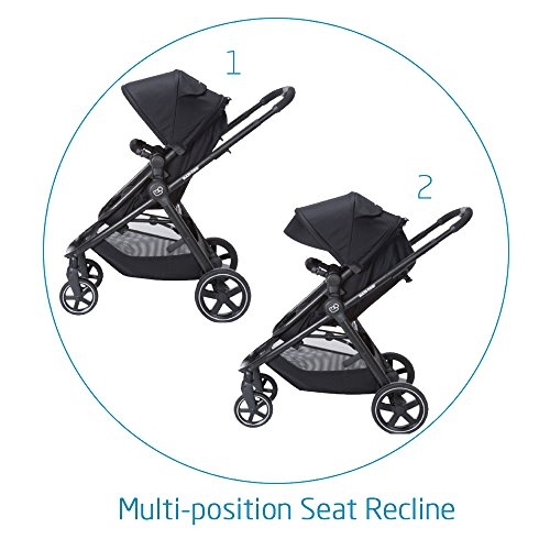 Maxi-Cosi Zelia 5-in-1 Modular Travel System Stroller and Mico 30 Infant Car Seat Set (Night Black) by Maxi-Cosi (Image #2)