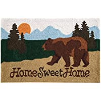 C&F Home Hooked Sweet Home Lodge Parfait Rug, Brown