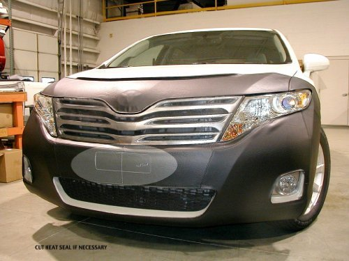 (Lebra 2 piece Front End Cover Black - Car Mask Bra - Fits - Toyota Venza LE, XLE & Limited 2013)