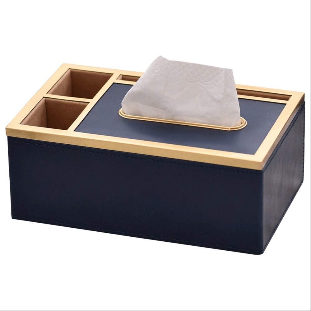 KSW_KKW Luz Moderno cajón Cartón Cobre Multifuncional Caja de Almacenamiento Sala de Estar Mesa de café decoración de Cuero cajón de Cobre Caja de pañuelos (Tamaño: 23,5 * 14,5 * 9,5 cm): Amazon.es: Hogar