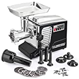 The All New Patented Model STX-4000-TB2 Turboforce II 'Quad Air Cooled' Black Electric Meat Grinder & Sausage Stuffer - The Ultimate in Power, Style and Performance.