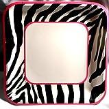 Pink Zebra Dinner Plates