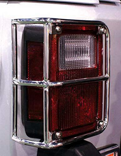 RAMPAGE PRODUCTS 88460 Stainless Euro Taillight Guards for 2007-2018 Jeep Wrangler JK ()