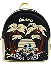Loungefly x Lilo and Stitch Ohana Scene Satin Mini Backpack