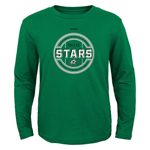 Long Star Sleeve Youth - Outerstuff NHL Dallas Stars Boys Attacking Zone Performance Long Sleeve Tee, Small/(8), Fairway