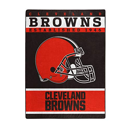 The Northwest Company Officially Licensed NFL Cleveland Browns 12th Man Plush Raschel Throw Blanket, 60