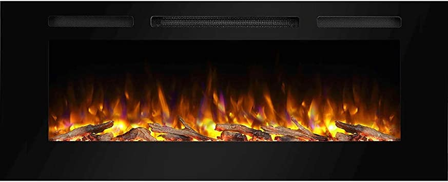 Amazon Com Puraflame Alice 50 Inches Recessed Electric Fireplace