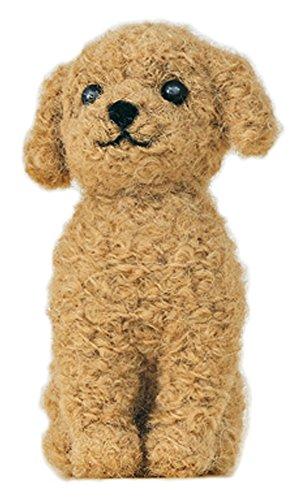 Apricot Wool - Hamanaka made of felt wool kit fluffy wool, felt dog Toy Poodle (apricot color) H441-421 Designed by Susa SunaTomoko
