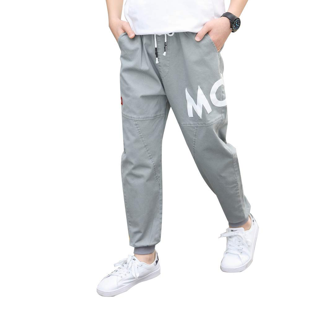 childdkivy Kids Big Boys Casual Pants Active Outwear Bottoms Gray 160 812D by childdkivy