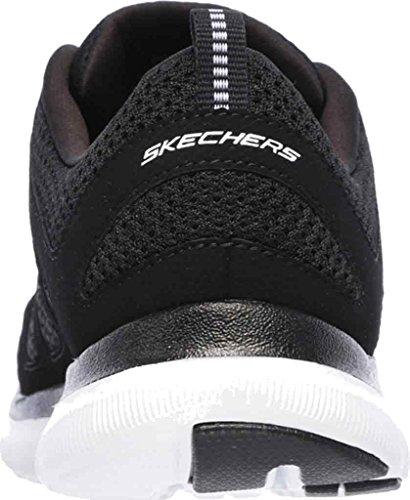 Skechers deportivo de mujer de cordones , con plantilla de memory foam ,alto confort. 12761 nvhp marino blanco y negro