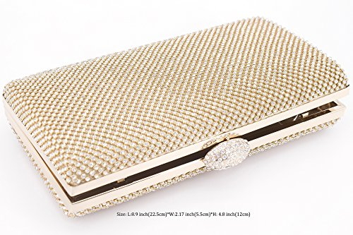 Evening Cocktail Women Bag Dexmay Crystal Rhinestone Purse For Gold Large Clutch Prom Party zqIzZ4wRF