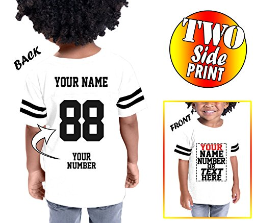 (Custom Cotton Jerseys for Toddlers and Kids - Make Your OWN Casual Outfit White )