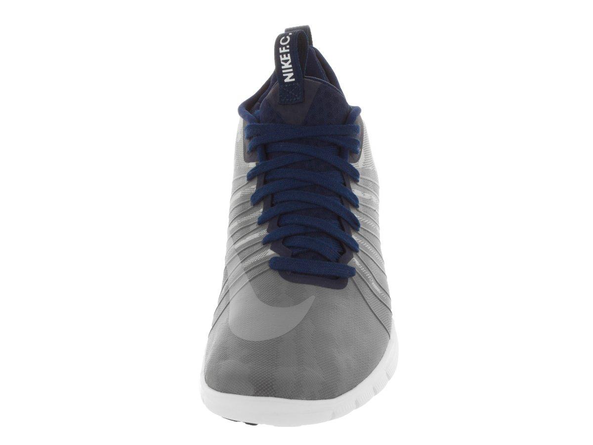 Nike Free Hypervenom 2 FC, Chaussures de Football Homme - Différents Coloris - Gris/Blanc (Argenté Mat/Gris Froid - Obsidienne - Gris foncé), 44.5 EU EU