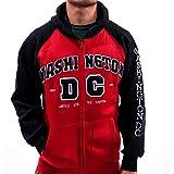 dc red hood hoodie - Washington DC Two Toned Hoodie (Large, Red with Black Sleeves)