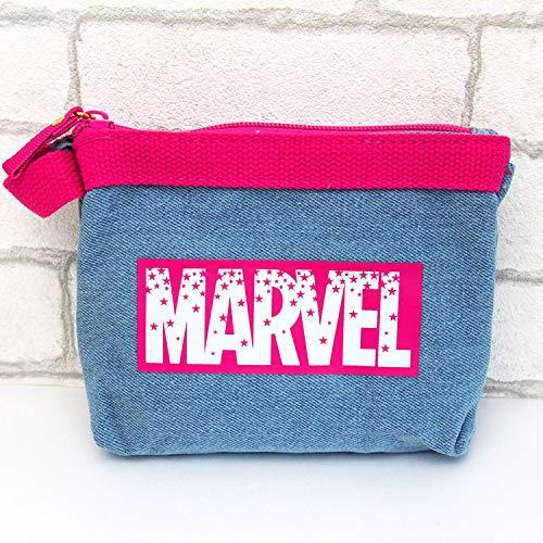[해외]【 마블 】 3 포켓 파우치 (PK) 데님 시리즈 068979 / [Marvel] 3 Pocket pouch (PK) Denim series 068979