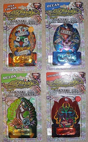 Ed Hardy Air Fresheners - 4 Ed Hardy by Christian Audigier Different Scented Oil Air Freshener