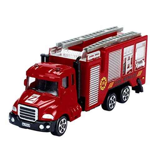 Leegor 1:64 Alloy Simulation Engineering Vehicles Toy Fire-Fighting Car Truck Boy Birthday Present Educational Toy Christmas Gift
