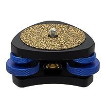 """Desmond DLEV-3814 Leveler Level for Tripod. 3/8 Socket & 1/4"""" Stud Precision Tri-Wheel Leveling Base"""