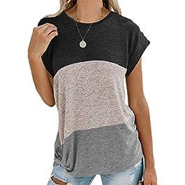 Women's Summer Tops  Short Sleeve Shirts Casual Blouse