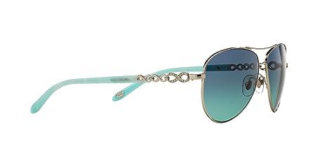 0d642329b0b5 Amazon.com: Tiffany & Co. TF-3049-B Avitor Sunglasses for Women Blue  Gradient 60019S: Clothing