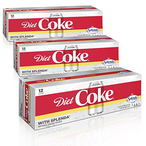 Diet Coke with Splenda Fridge Pack Bundle, 12 fl oz, 36 Pack ()