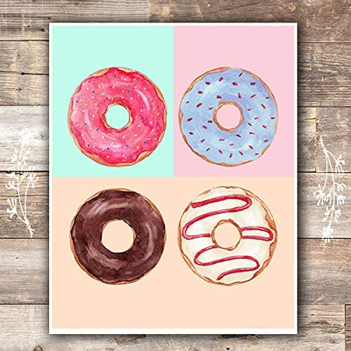 Donut Give Up Kitchen Decor Wall Art