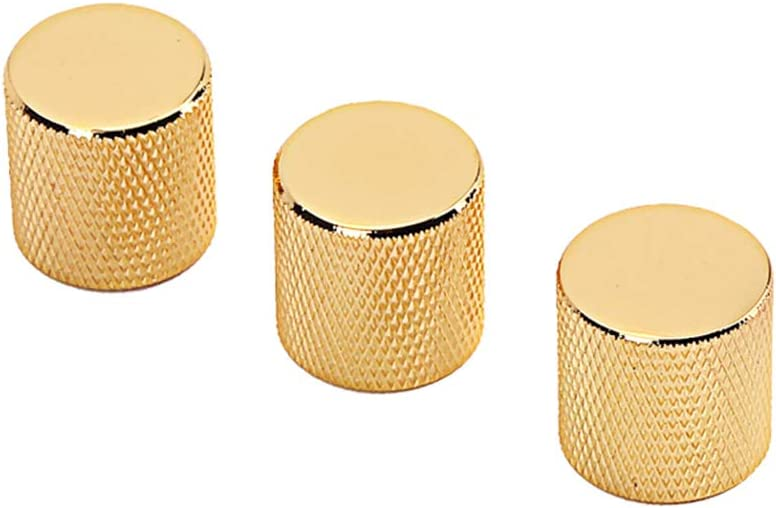 Golden Orchestral Instrument3Pcs Stylish Tone Volume Control Replacement Knobs Cap for Electric Guitar Bass Wulidasheng Guitar Knobs