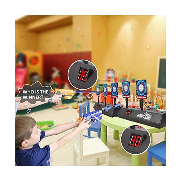 2020-Updated-Edition-Electric-Digital-target-for-Nerf-GunsScoring-Auto-Reset-Nerf-Target-for-Shooting-with-Wonderful-Light-Sound-Effect-for-Blaster-N-Strike-EliteMegaRival-for-boys-girls-gifts